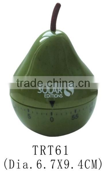 Plastic Pear Shape Mechanical Countdown Kitchen Timer