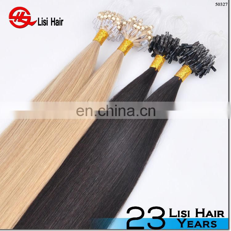 Factory Price Hot Selling Italian Keratin Virgin Indian Straight Remy Micro Ring Body Wave