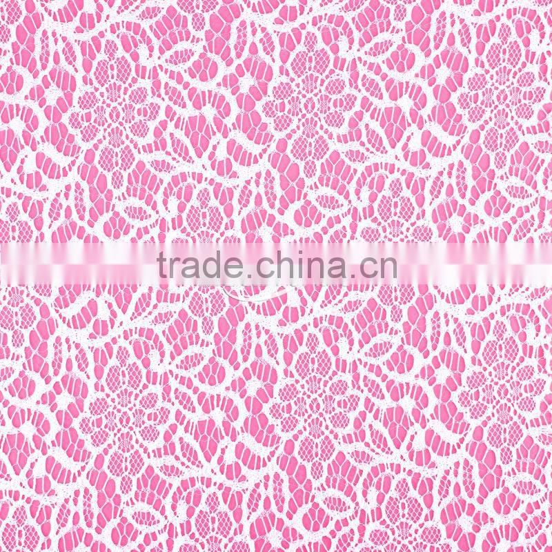 2014 High Quality Spandex Tint Pattern Italian Lace Fabric Wholesale for Lace Bra Tee