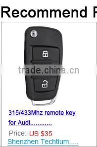 ABS Remote 3 button fake car master card key 2 key case blank fob with blade for renault laguna
