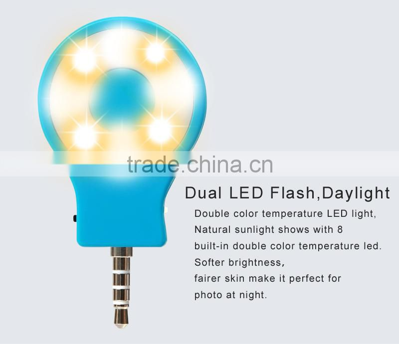 2015 NEW LED flush RK07 the more professional and sync retina flash(Retina Flash) for front camera