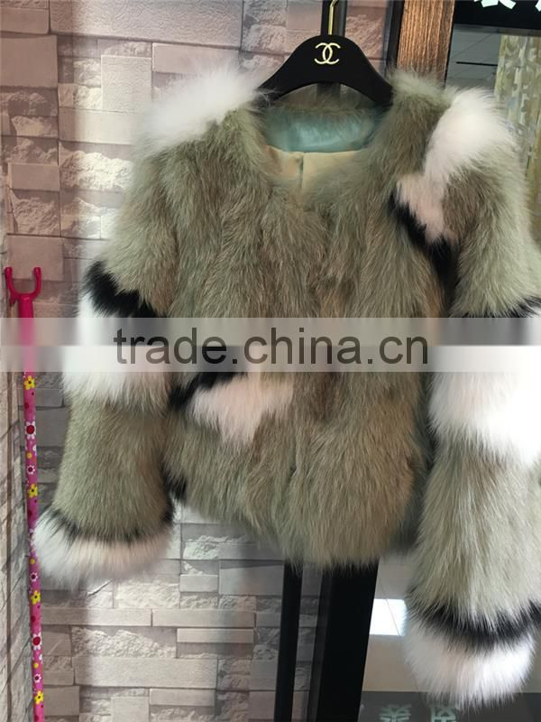 100% real fox fur coat 2016 new design woman short fox fur jackets for winter warms brand design