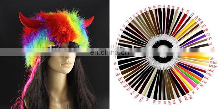 Cute Girl clown wig wholesale Anime Cosplay Party Wigs with Devil horns