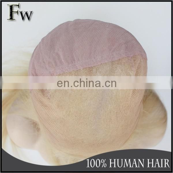 613# full lace wig blonde color of Full lace wig with clips