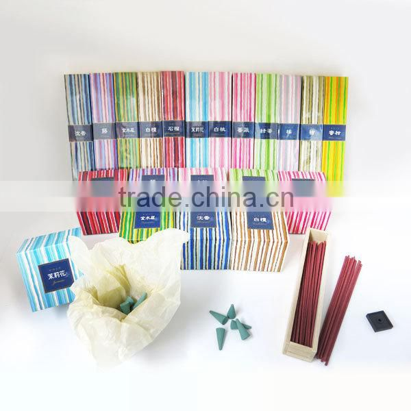 Aromatic relaxation cone and stick incense set suitable for Buddhist gift