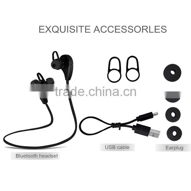 2016 Amazon top selling RQ9 sport wireless bluetooth earphone, cheap stereo bluetooth headset for mobile