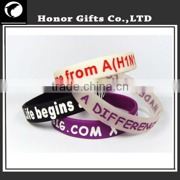 Pretty Cool Party Gifts High Quality Cheap Silicone Bracelet
