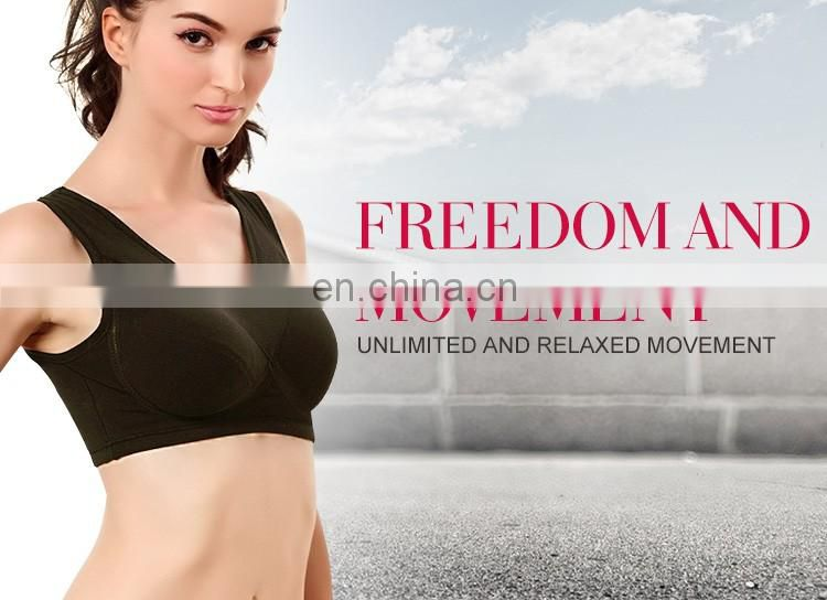 Hot Sale Delicate Young Women Soft and Breathable padded sports bra
