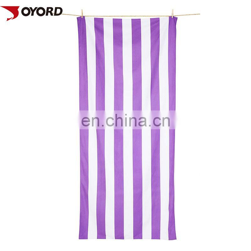luxury feel printed OEM custom microfiber beach towel/sports towel