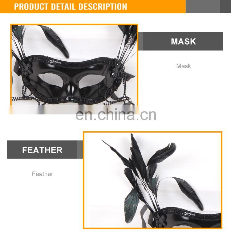 Hot sale halloween glitter masquerade party mask
