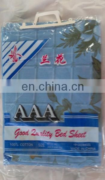 T/C printed jacquard bed sheet with a cheap price