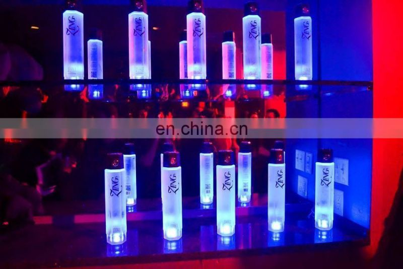 sparking light for cups led bottle pads 3M blue led bottle sticker
