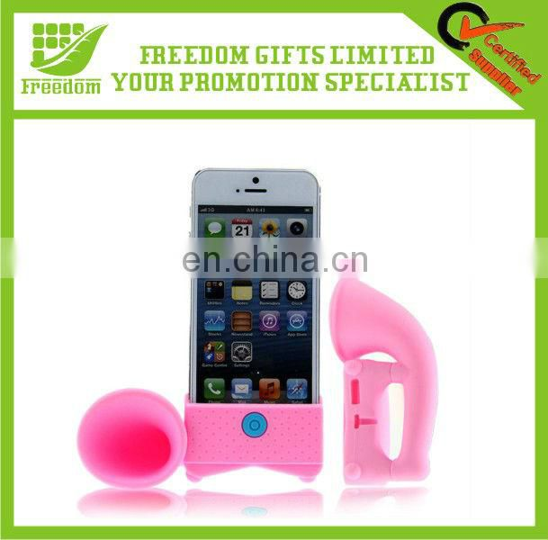 Promotional Logo Printed Silicone Phone Speaker