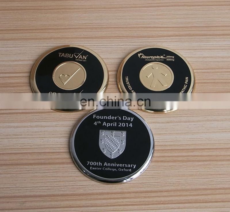 high quality metal cup mat gold/silver plated cup coaster as business gift
