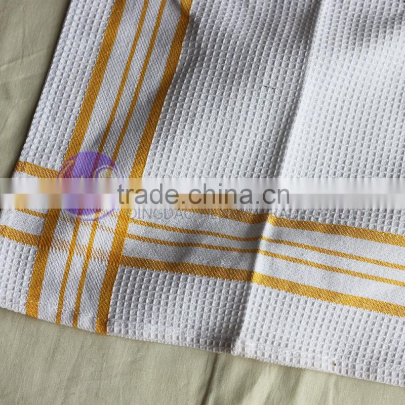 wholesale embroidered plain white cotton kitchen tea towel