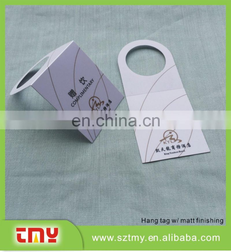 2016 fashion clothing tags and direct factory printing plastic clothing tags