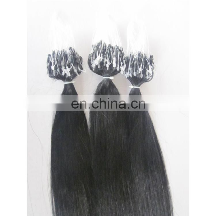 Indian Human good quality Tangle Free Factory Price Wholesale Micro Ring Loop Hair