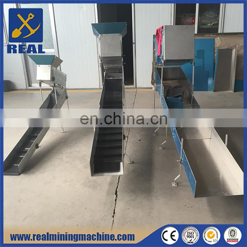 Equipment used in mining gold mining sluice box for sale