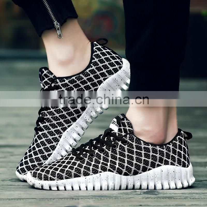 Hot selling adult sport shoes fashion breathable casual shoes running shoes