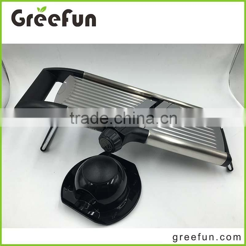 Multi Food Mandoline Slicer , Stainless Steel Vegetable Slicer For French Fries, Juilienne Sticks and More With Safrety Grip