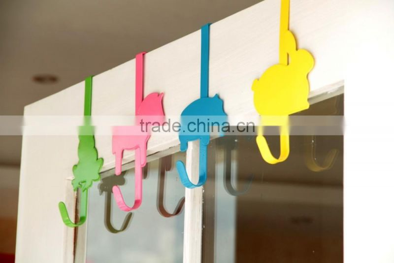 S animal stainless steel hanging door hook