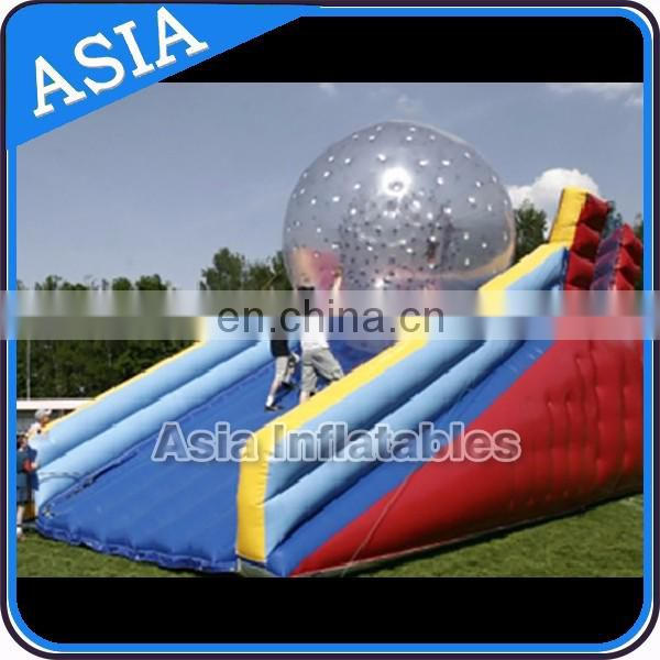 Outdoor Inflatable Toys giant speedyway Zorb Ball Ramp