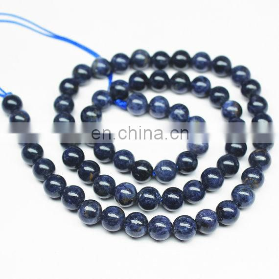 Blue sapphire 6mm round beads/Sapphire Gemstone Beads Necklace/Natural gemstone beads suppliers/