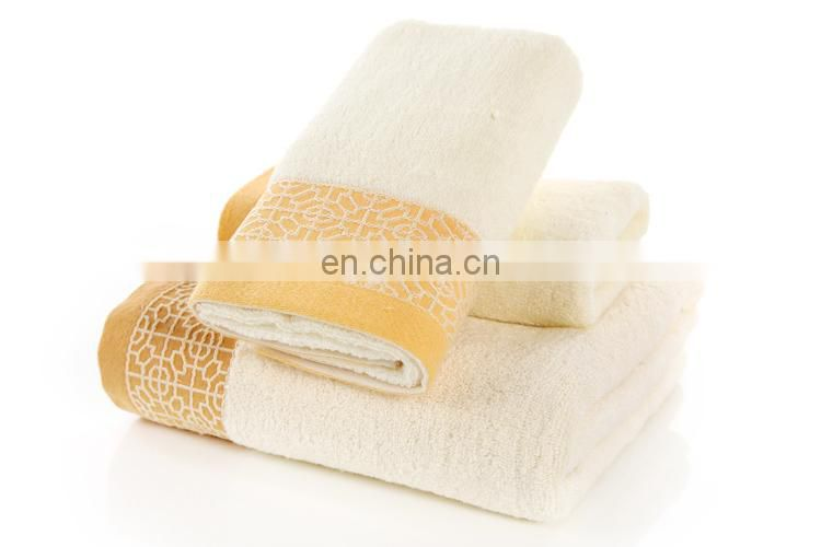 China factory Hot sale luxury plain dyed 100% cotton towel set for gift