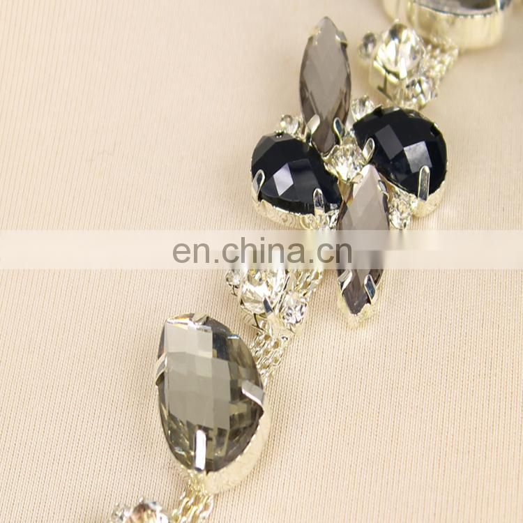 2015 fancy style rhinestone chain trimming for wedding dress WTR0173