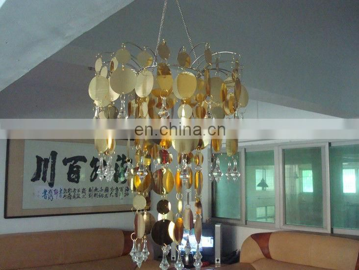 Hand-Hooked PVC Beaded Chandelier Light shade