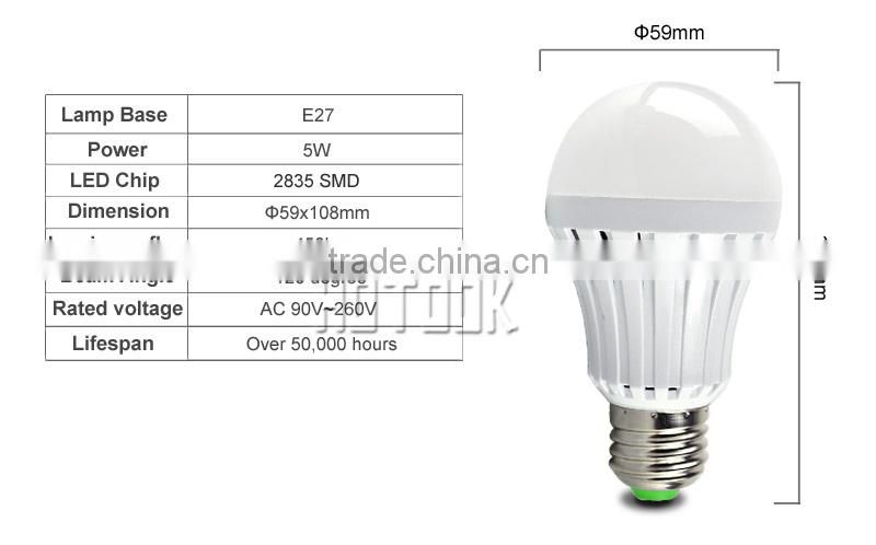 E26/E27 rechargable LED emergency led bulb 5w 7w 9w