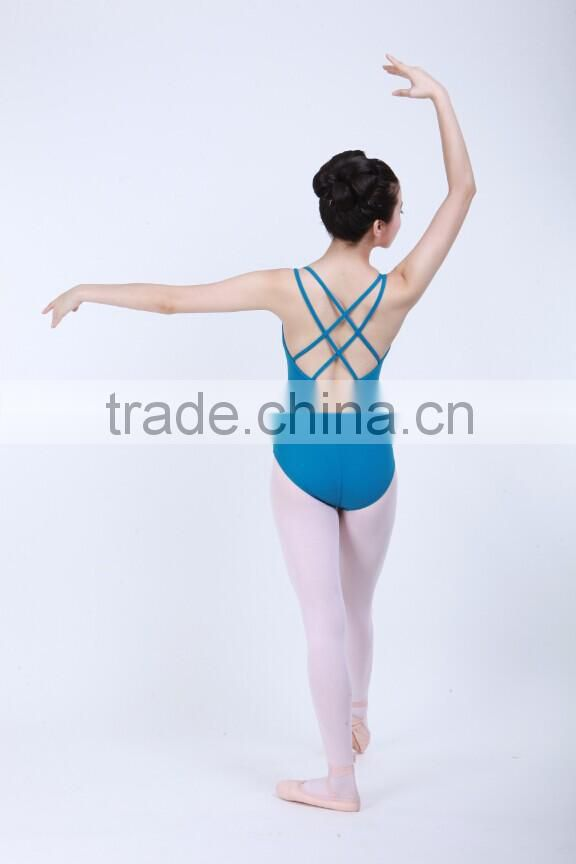 D031014 Wholesale dance camisole Cross-Back ballet leotard adult rhythmic gymnastics leotard