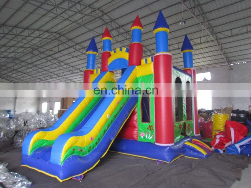 Inflatable with slide bouncer inflatable amusing ocean world trampoline combo