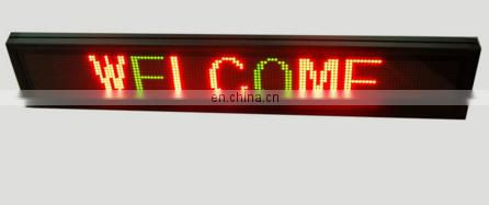 New type P7.62 full color taxi roof led moving sign