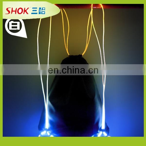 Outdoor activities Identify LED light backpack at night made in China