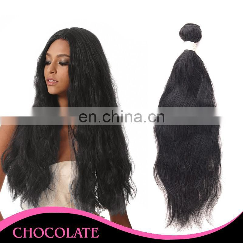 hot sale 100% human hair weft natural wave unprocessed hair can be dyed and bleached