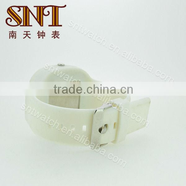 SNT-SI026A unisex silicone watch white silicone watch bands