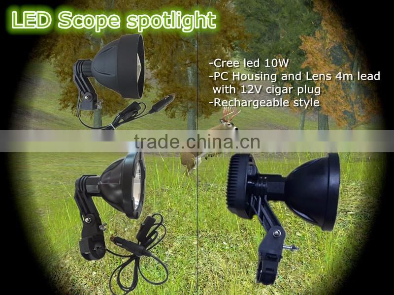 cree 10w rechargeable hunting lights rifle scope mount