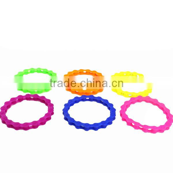 Personalized Silicone Chain Bracelet