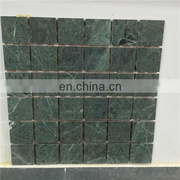 Green square stone mosaic