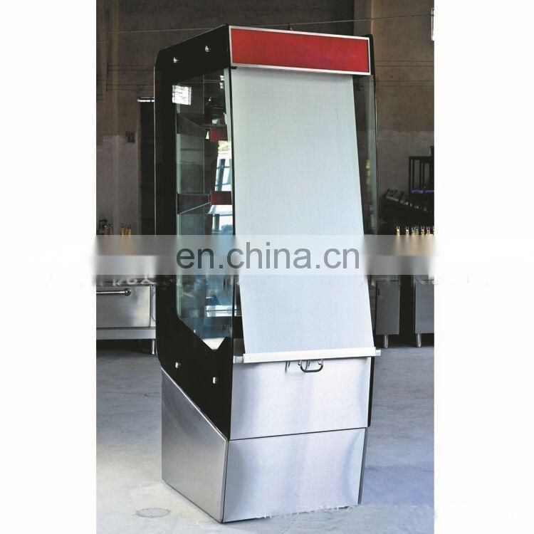Vertical Toughened Glass Four Layer Hot Air Circulation Thermal Insulation Display Cabinet Warmer Showcase With Roller Shutter