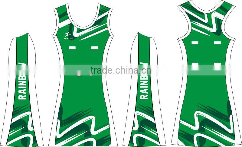 sublimation hot style women netball dress