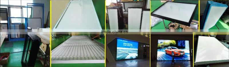 Double Side Crystal Light Box Real Estate Agency Hanging LED Light Pockets Window Display