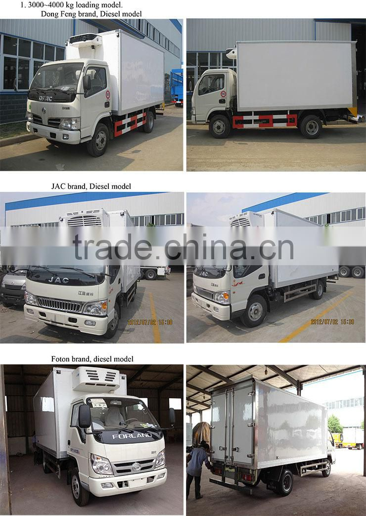 JAC cooling van truck 10 ton, refrigerated box car