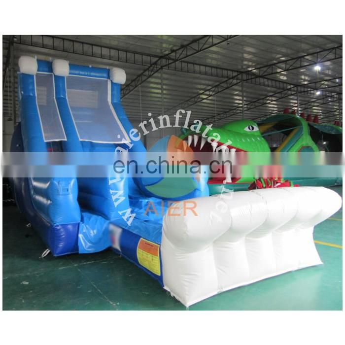 2017 Aier Large Inflatable Amusement Park Inflatable water Slide