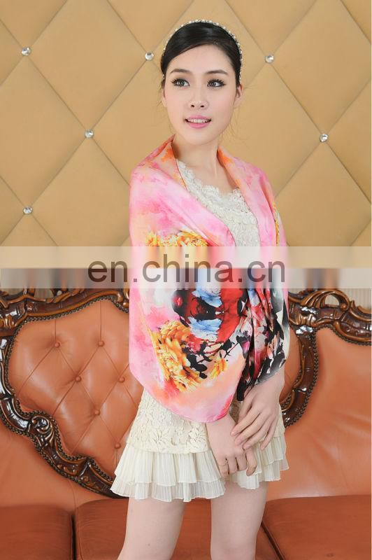 Luxury digital printing silk scarf