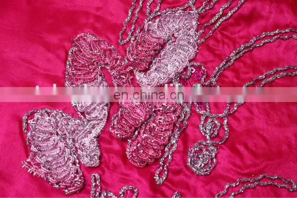 2014 indian lace fabrics for wedding party