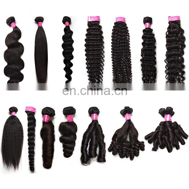 100% cuticle aligned virgin brazilian human hair extension remy hair weft