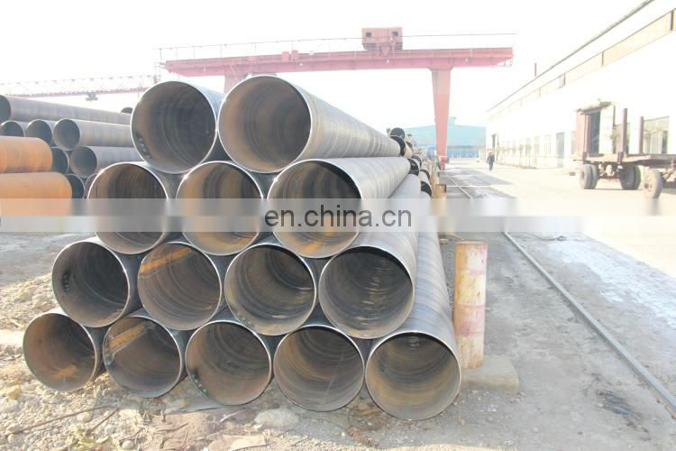 API 5L Spiral Welded Black Low Carbon Steel Pipes Steel Tubes
