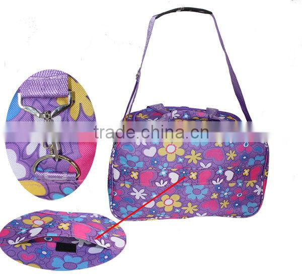 Wholesale Fashion Flower Printed Oxford Customized Good Quality Folding Shoulder Bag Big Best Travel Bag 5color LXB002